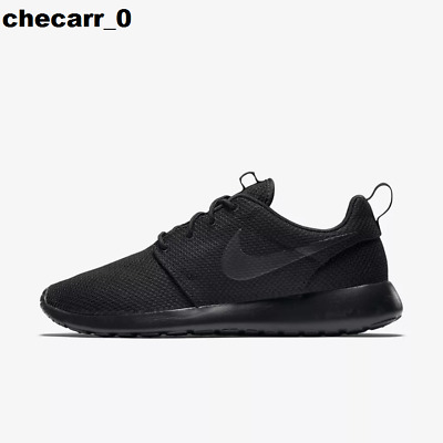 New Men's Nike Roshe One Casual Shoes All Black - Free Ship