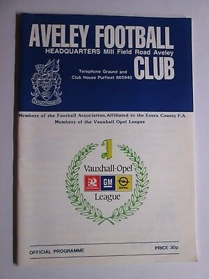Aveley v Halstead Town - FA Cup Match - 12th Sept 1988