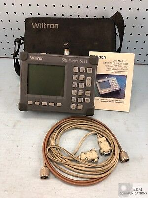 S111-A4 Wiltron Anritsu Site Master Cable Antenna Analyzer No Ac Power Adapter