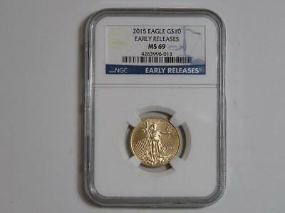 2015 $10 American Gold Eagle - 1/4 oz AGE - NGC MS 69 Early Releases