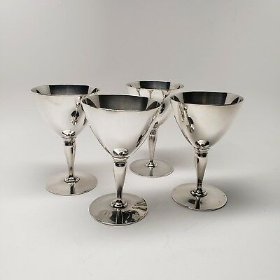Tiffany & Co Wine Goblets 18885 Sterling Silver Set of 4