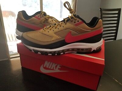 05b98d2fa NIKE AIR MAX 97   BW AO2406-700 Metallic Gold Red Men s Sneakers Brand New