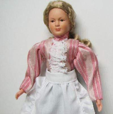 Dollhouse Victorian Woman w Apron Dressed Caco Lady DHS01353  Miniature