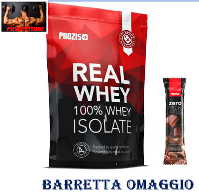 Prozis 100% Real Whey Isolate 1000 gr - proteine pure magre senza grassi