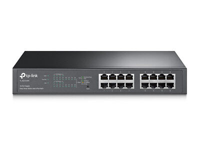 TP-Link TL-SG1016PE 16-Port Managed Gigabit Ethernet Network Switch - Black