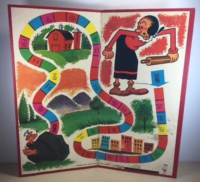 Vintage Hasbro 1965 Olive Oyl Catch My Popeye Game Rare Board only Board Game