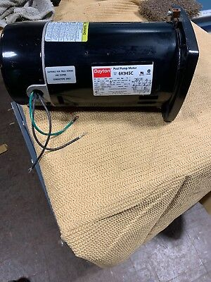 DAYTON Pool Pump Motor 6K945C 1/3HP, 3450RPM, 1PH, 115/230 *NEW*