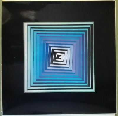 Victor Vasarely  VONAL LILA  heliogravure on paper  1971  Edition du Griifon