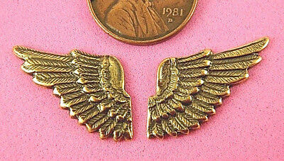 ANTIQUE BRASS SMALL WING PAIR-2 PC(s)