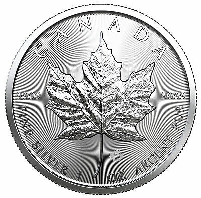 Tube of 25 - 2019 $5 1oz Silver Canadian Maple Leaf .9999 BU