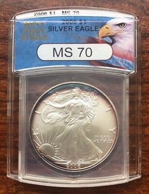 2006 MS70 (Highest Rating!) First Strike SILVER EAGLE RAINBOW PATINA