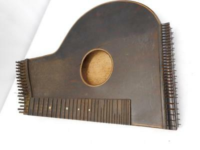 1800's Wood Zither String Instrument For Repair Or Wall Art
