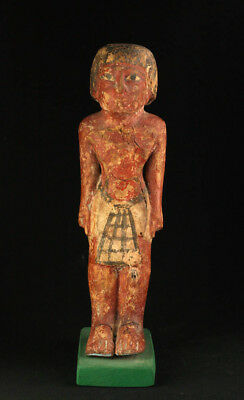 *sc*large Egyptian Wooden Figure Of A Standing Male, 2030-1640 Bc!