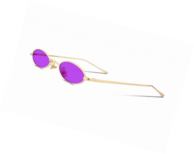002528b06d6fb FEISEDY Vintage Small Sunglasses Oval Slender Metal Frame Candy Colors B2277