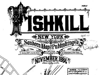 Fishkill, New York~Sanborn Map©sheets~10 maps made in 1884~B/W