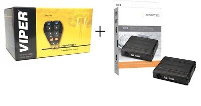 Viper 3105V Car Alarm 1-Way TWO 4-Button Remotes + DB3 Databus ALL Combo Bypass