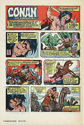 Conan the Barbarian by Roy Thomas - full page color Sunday comic - Dec. 31, 1978