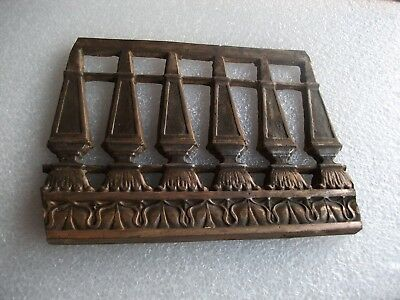 "2X Antique Cast Iron - SMALL - Detail Architectural Salvage Accent Piece 8""x6"""
