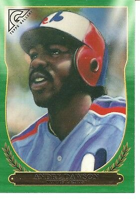 2018 Topps Gallery Andre Dawson Green Serial Numbered Baseball Card /250