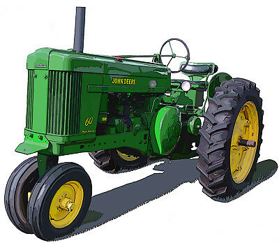 John Deere Model 60 canvas art print by Richard Browne farm tractor
