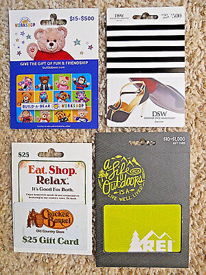 Gift Cards, Collectible, unused, new cards with backing, no value on cards  (TL)