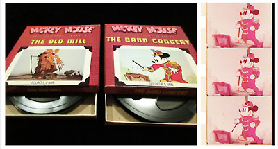 "Super 8 Sound Films (2 Walt Disney Cartoons) ""THE BAND CONCERT"" & ""THE OLD MILL"""
