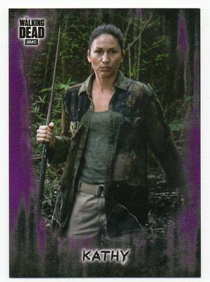 Kathy 2018 The Walking Dead Hunters and Hunted Purple Parallel /10