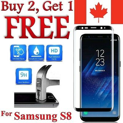 Premium 3D Curved Tempered Glass Screen Protector for Samsung Galaxy S8