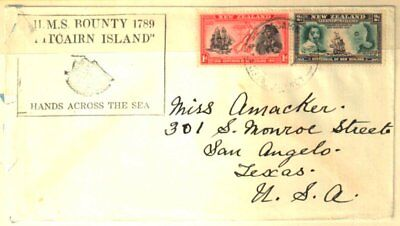 PITCAIRN ISLANDS 1940 POSTAL AGENCY COMMERCIAL COVER w/CACHET