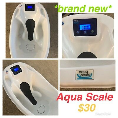 NEW Aqua Scale 3-in 1-Digital LED Scale, Water Thermometer Baby Bath Tub