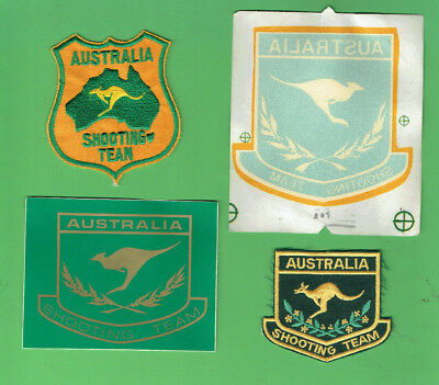 #D450.   Four(4)  Australian Sport Shooting Realated Sticker & Patches