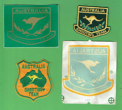 #D451.   Four(4)  Australian Sport Shooting Realated Sticker & Patches