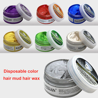 Fashion Temporary Color Dye Mud Hair Wax Cream Styling Modeling Pomade high