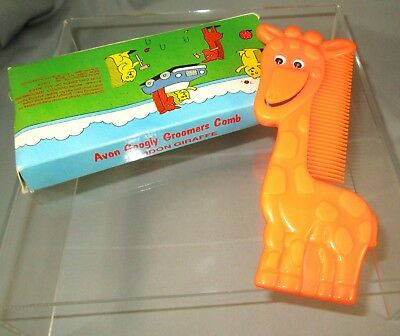 Vintage 1991 AVON Googly Groomers Comb Gordon Giraffe New Old Stock in Box
