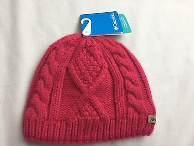 79406390333 New Columbia Girls Knit Fleece Lined Hat Beanie Youth Girls Pink S M