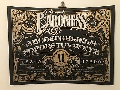 """Baroness """"ouija"""" Gig Poster By Hydro74/Burlesque"""