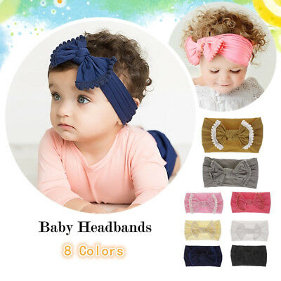 Baby Hair Hoop Headband Turban Knotted Girl Soft Hairbands for Toddler Childrens
