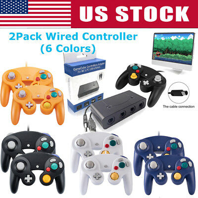 2Pack Wired NGC Controller Gamepad for Nintendo- GameCube GC & Wii- Console