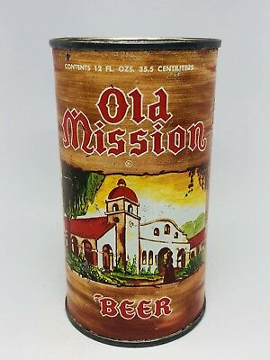 Old Mission Beer - Flat Top Can From Pabst Brewing. Los Angeles, California - CA