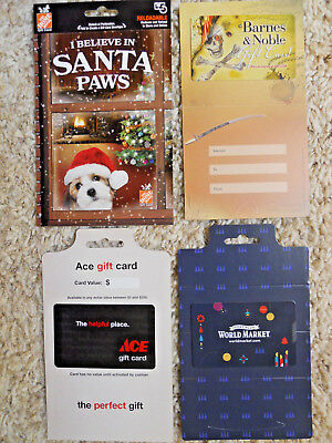 Collectible Gift Cards, new, unused, with backing, no value on cards      (VU)