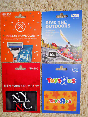 Gift Cards, Collectible, four new cards with backing, no value on cards     (UX)