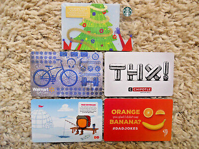 Gift Cards, Collectible, five cards, new, unused, no value on the cards     (VO)
