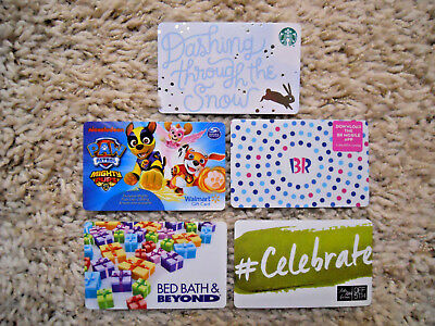 Gift Cards, Collectible, five cards, new, unused, no value on cards     (XK)
