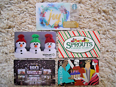 Gift Cards, Collectible, five cards, new, unused, no value on cards     (WJ)