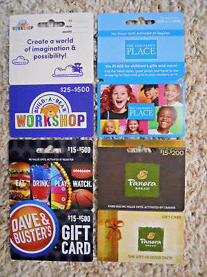 Gift Cards, Collectible, new, unused, with backing, no value on cards       (VG)