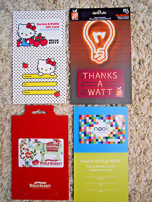 Collectible Gift Cards, new, unused, with backing, no value on cards      (VH)