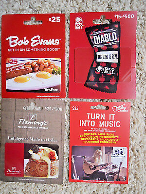 Gift Cards, Collectible, unused, new,  with backing, no value on the cards  (UN)