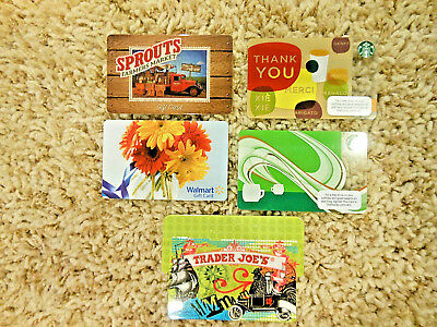 Collectible Gift Cards, five new cards, no value on cards                   (D)