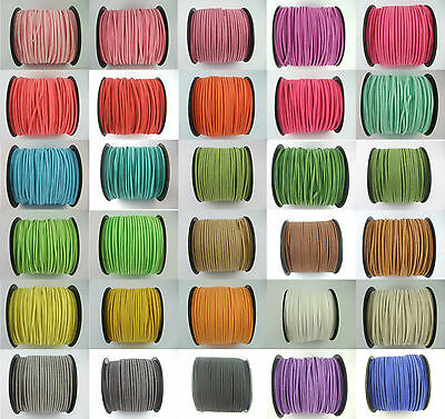 100Yards 2.5x1.5mm Flat Korea Faux Suede Leather Cord Bracelet Necklace DIY Rope