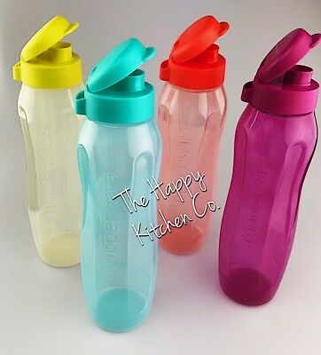 BNIP Tupperware Next Gen II Drink Bottle Flip Top 500ml OR 1 Litre ~ School Work